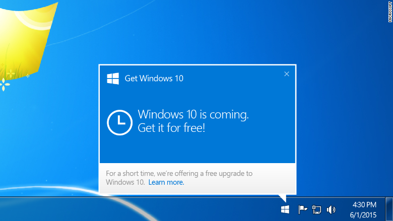 Windows 10 free upgrade icon